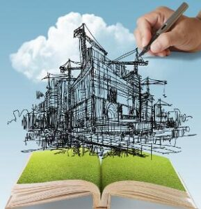 Drawing in open book