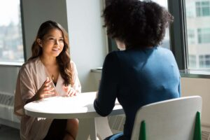 Two women in a business consultation